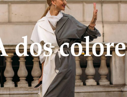 La ropa bicolor es la tendencia más atrevida de la temporada: una misma prenda, dos colores